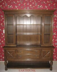 Ethan Allen Royal Charter Oak William And Mary Jacobean China Sideboard 16 6028