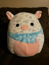 Squishmallows Rosie 12 Farm Squishmallow Pig With Bandana Easter Pig