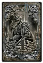 Fallen Brothers Fire Dept 911 343 Sept 11th 18 Heavy Duty Usa Made Metal Sign