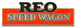Reo Speed Wagon Red Black Colors 25 Heavy Duty Usa Made Metal Advertising Sign