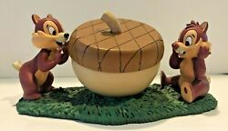 Disney Chip 'n' Dale Limited Edition 1500 Watch And Figurine C. 1990s. Htf
