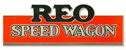 Reo Speed Wagon Red Black Colors 36 Heavy Duty Usa Made Metal Advertising Sign