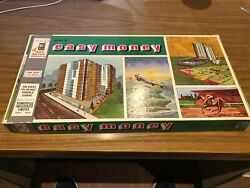 1956 The Game Of Easy Money Board Game Milton Bradley With Rare French Cards