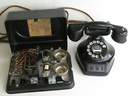 Antique Telephone Automatic Electric Monophone 2 Line Phone Subset Awesome