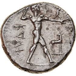 [877730] Coin, Bruttium, Kaulonia, Stater, 475-425 Bc, Silver, Hn Italy2046