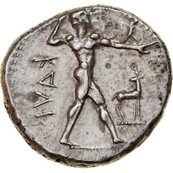 [877730] Coin Bruttium Kaulonia Stater 475-425 Bc Silver Hn Italy2046