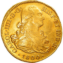 [877673] Coin Colombia Charles Iv 8 Escudos 1800 Popayan Gold Km62.2