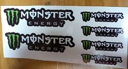 6 Monster Energy Stickers