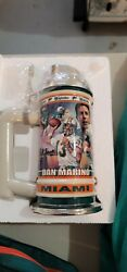 Dan Marino Miami Dolphins Nfl Ceramic Beer Stein Collectible. New, Never Touched
