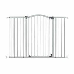 """Summer Extra Tall And Wide Safety Baby Gate, Cool Gray Metal Frame – 38"""" Tall, Fit"""