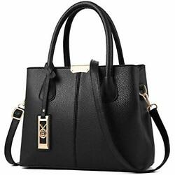 Purses and Handbags for Women Shoulder Tote Bags Top Handle Satchel Black $29.61