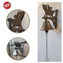 When Pigs Fly Bell Front Door Porch Dinner Cast Iron Vintage Home Decor Gift