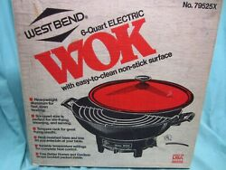 Vintage West Bend Wok- New In Box -6 Qt. 14 In.,never Used