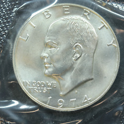 1974-s Eisenhower Uncirculated Silver Dollar With Ogp And Coa