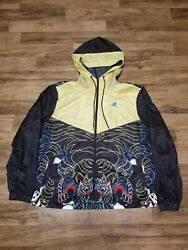 Play Cloths - Our Gang Est. 1997 The Dragon Wind Breaker Mens Jacket Size 3xl