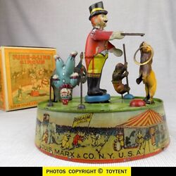 Ring-a-ling Circus 1925 Tin Toy Louis Marx And Co Fine Working Condition See Movie