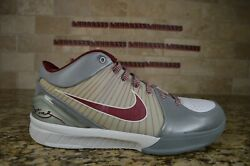 New Nike Air Zoom Kobe 4 Iv Lower Merion Aces 344335 061 Size 10 Rare Gray Grey