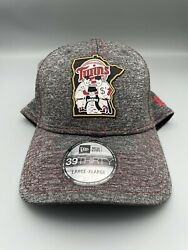 New Minnesota Twins Of Clubhouse Red Sox Mlb Gray 39thirty Men's Hat L/xl