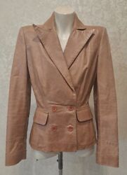 Alexander Mcqueen 1999 The Overlook Double Breast Fitted Leather Jacket 40/s Ah