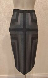 Givenchy Couture Alexander Mcqueen Rare 1998 Skirt 36 Xs From The Campaign Fab