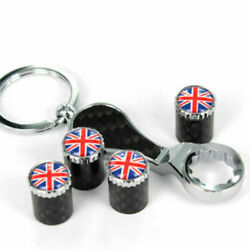 Anti Theft Pipe Joint Jack Wrench Key Chain Tire Valve Stem Cover British Flag