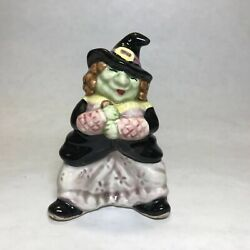 Vintage 1992 Fitz And Floyd Halloween Witch Salt Shaker Only