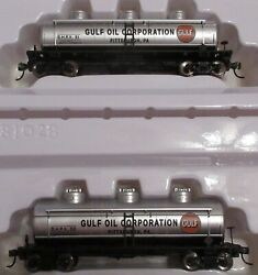 Two Walthers Main Line Gulf Oil Pittsburgh Pa 36' 3-dome Tank Cars Shpx 61, 62