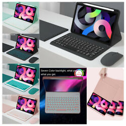 For Ipad 7th 8th Gen Air 4 10.9 Pro 11 10.5 Bluetooth Keyboard Mouse Case Cover