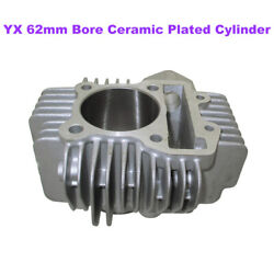 Yx 62mm Bore Ceramic Plated Cylinder For 160cc 4valve Engine Pit Dirt Bike Parts