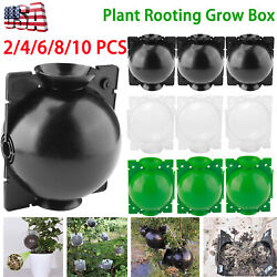 2/4/6/8/10 Pcs High Pressure Propagation Boxes Plant Rooting Devices Grow Balls