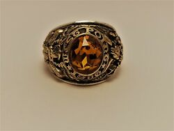@ Solid 10k Gold Usma Ring Military Academy West Point Ring 1986 Size 14