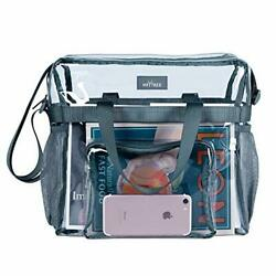 Clear Bag for Work for Women Stadium Approved Transparent See Through Tote GRAY $21.60