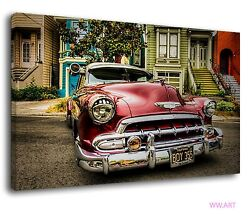 Low Rider Vintage Chevrolets Retro Car Posters Canvas Wall Art Picture Print