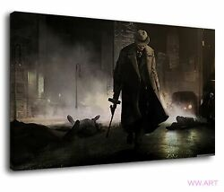 Godfather With An Old Machine Gun On City Street Canvas Wall Art Picture Print