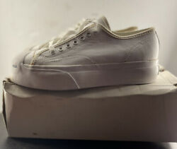 Vintage Converse Jack Purcell White 54214-b Unisex Platform Read Description