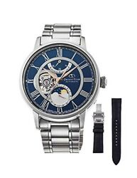 Orient Watch Orient Star Classic Mechanical Moon Phase Rk-am0011l Menand039s Silver