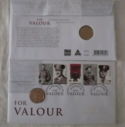 Victoria Cross For Valour 2000 Australia Scarce 1 Unc Coin And Stamp Pnc Cover
