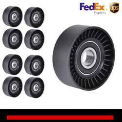 8x Belt Tension Pulley For Jeep Wrangler Bmw 128i Vw Beetle Chevy Town Andcountry