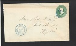 Fort Fetterman,wyoming.1870's Cover To Fort Bridger. Converse Co Dpo 1873/1899.
