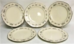 5 Noritake Ivory China Southern Lace 7301 Dinner Plates Japan Discontinued