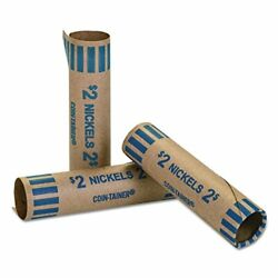 Mmf Industries Preformed Tubular Coin Wrappers Nickels 1000 Wrappers Per Box Bl