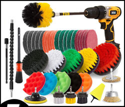 2021 Drill Brush Set Power Scrubber Drill Attachments Carpet Tile Grout Cleaning