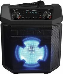 Ion Party Boom 100w High-power Bluetooth Rechargeable Speaker With Mic And Lights