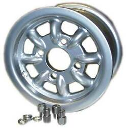 Mini Cooper Wheel 4.5x10 Silver With Lug Nuts + Hub Center Cap