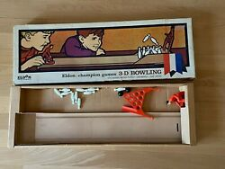 Very Rare Vintage 1966 Eldon Bowling Game In Retail Box W Bowl A Matic Colors