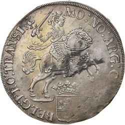 [865594] Coin Netherlands Overyssel Ducaton Silver Rider 1734 Au50-53