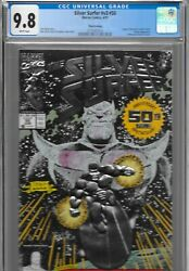 Silver Surfer 50 3rd Print Variant Cgc 9.8 Low Census Thanos Silver Foil 1991