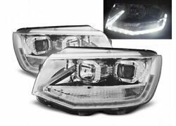 Offer Pair Of Projector Headlights Pour Vw T6 2015-black Led Tru Drl Tuning Fr