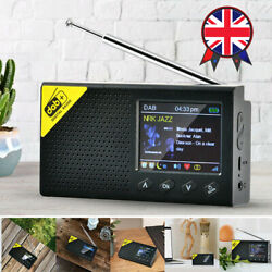 Portable Dab+ Radio Digital Fm Rechargeable Bluetooth5.0 Music Player 2.4 Lcd
