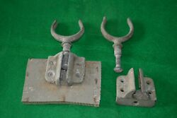 Pair Vintage Marine Galvanized Metal Oar Locks Holders And Brackets Row Boat